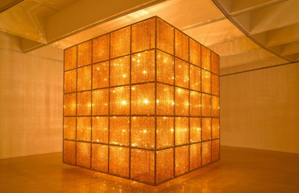 Cube Light, Ai Weiwei, Cube Light, 2008; Installation view at the Hirshhorn Museum and Sculpture Garden, Washington, DC, 2012.; Photo Cathy Carver