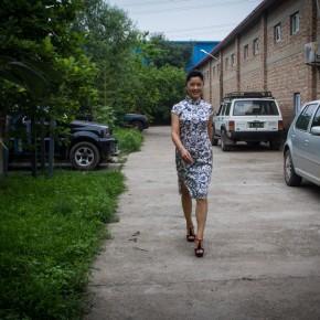 Cui Xiuwen at Her Studio on July 9, 2012-3; Photo by Hu Zhiheng/CAFA ART INFO