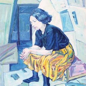 Cui Xiuwen's work, Sedentary Woman, 1996; painting, 90x130cm