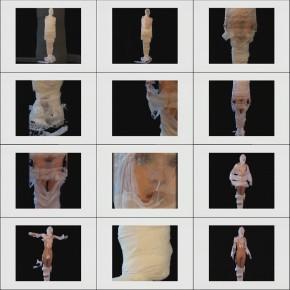 Cui Xiuwen's work, TOOT, 2001; video