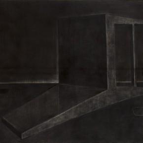 Fallen Armchair•Dark Night, 2011; Charcoal on Canvas, 100×130cm