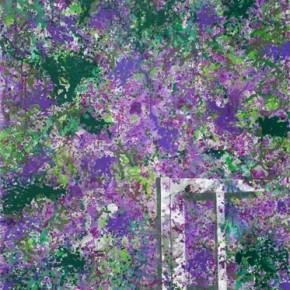 Fallen Armchair and Clover Flowers, 2012.03; Acrylic on Canvas, 250×200cm