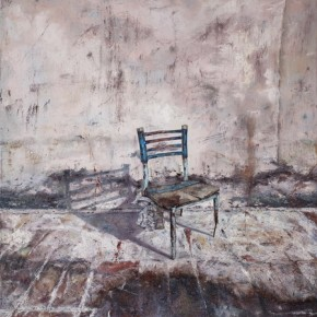Figure Shadow underneath the Chair, 2010; Oil on canvas, 200×150cm