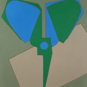 Green Inverted Scissors, 2009.7; Oil on Canvas, 180×150cm
