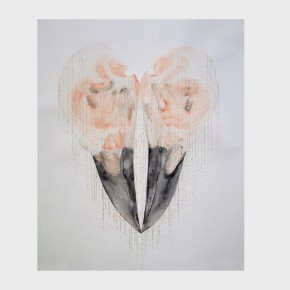 Huang Hankang, Love Without Flowers and Birds; Mixed Media on Paper