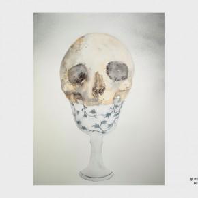 Huang Hankang, Sacrifice; Mixed Media on Paper