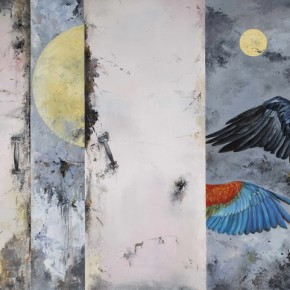 Inseparable King Bird, 2012; Oil on canvas, 120×150cm