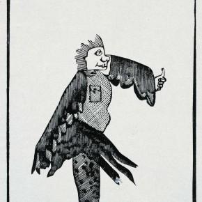 Kang Jianfei-Birdy Series 02, 2006; woodcut