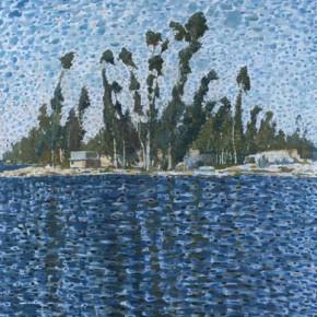 Kunming Series-Eucalyptuses at the Edge of Dian Lake, 2012.06; Oil on Canvas, 180×150cm