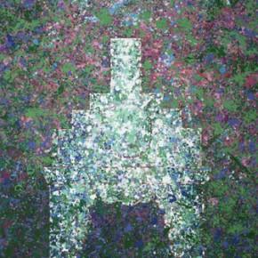 Kunming Series-Old Armchair Admist Clover Flowers, 2010-2012.04; Oil on Canvas, 250×180cm
