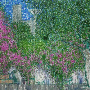 Kunming Series-West Huancheng Road, 2012.06; Acrylic on Canvas, 200×300cm