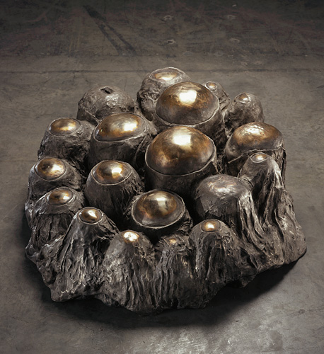 """Louise Bourgeois, """"Avenza Revisited"""", 1968-69, bronze, silver nitrate, polished patina, 43.2 x 104.1 x 88.9 cm."""