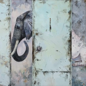 Pig Turning into Elephant, 2012; Oil on canvas, 120×150cm