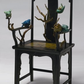 Qu Guangci, My Nature Tree, 2010; wooden chair, painted fiber glass, 121x72x61cm