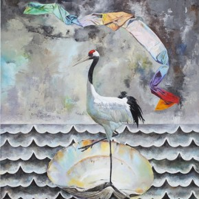 The Floating Life of A Crane, 2012; Oil on canvas, 200x150cm