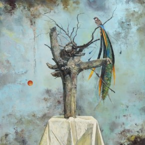 Turning into Phoenix, 2011; Oil on canvas, 200x150cm