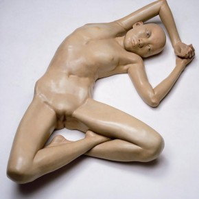 Xiang Jing, I Am 22 Years Old, But without My Period, 2007; painted fibre glass, 30x155x95cm