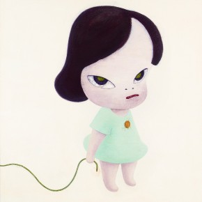 Yoshitomo Nara, Girl and A Long Blasting Fuse, 1996; acrylic on canvas, 120×109.8cm