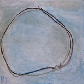 Zhang Enli, A Roll of Wires, 2012; oil on canvas, 95 x 95 cm