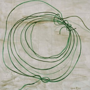 Zhang Enli, A Rool of Wires, 2012; oil on canvas, 200 x 210 cm