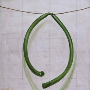 Zhang Enli, The Rubber Pipe, 2012; oil on canvas, 210 x 200 cm