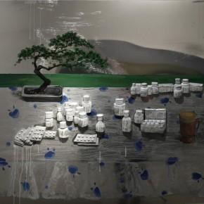 Zhang Xiaogang, Pine and Medicine, 2010