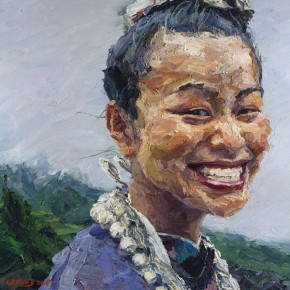 001 Xie Dongming's Work, A Happy Girl