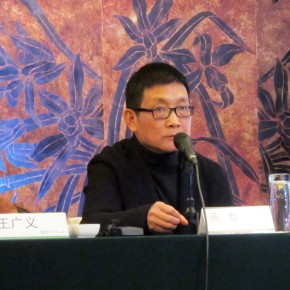 "02 Huang Zhuan at The Press Conference of ""Cold War Aesthetics"""