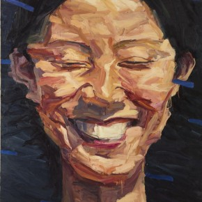003 Xie Dongming's Work, A Happy Girl; oil on canvas, 60x140cm