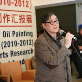 "05 Exhibition View of ""Graduation Works of Oil Painting Research Workshop (2010-2012) Organized by Fine Arts Research Institute, CAFA"""
