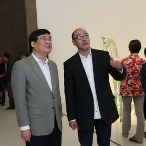 08 The Opening Ceremony of On High: Works of Yu Fan (from the left, Liu Dawei, Yu fan, Sun Hongpei)