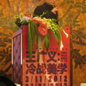"09 Huang Zhuan spoke at the opening ceremony of ""Cold War Aesthetics"""