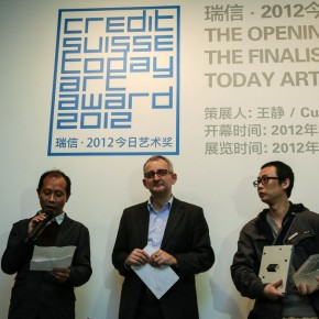 09 Judges Hou Hanru, Andre Rogger and artist Jiang Zhi ( from the left)