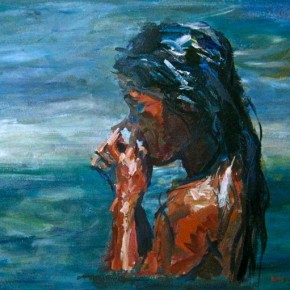 "101 Xie Dongming, ""Wet"", 2009; acrylic on handmade paper, 72×115cm"