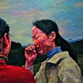 """103 Xie Dongming, """"Evening Breeze"""", 112x146cm"""