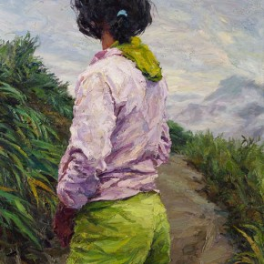 """105 Xie Dongming, """"Overlooking the Clouds"""", 2006; oil on canvas, 146×112cm"""