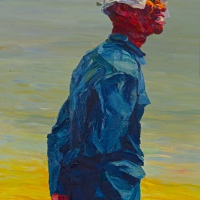 """114 Xie Dongming, """"Country Teacher"""", 2003; oil on canvas, 100×80cm"""