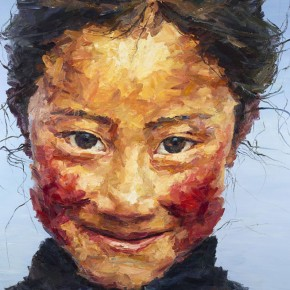 "121 Xie Dongming, ""Happiness"", 2007; oil on canvas, 200×190cm"