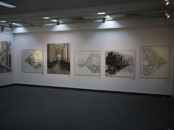 28 Exhibition View of Constructing a City by Dots and Lines