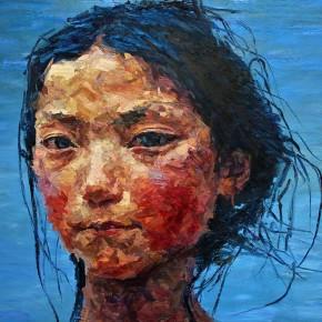 "047 Xie Dongming, ""Tibetan Girl"", 2009; oil on canvas, 200×190cm"