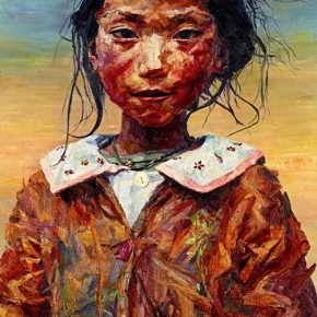 """050 Xie Dongming, """"Growing into Maturity"""", 2005; oil on canvas, 250×180cm"""