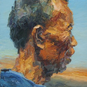 """052 Xie Dongming, """"Longing"""", 2008; oil on canvas, 60×50cm"""