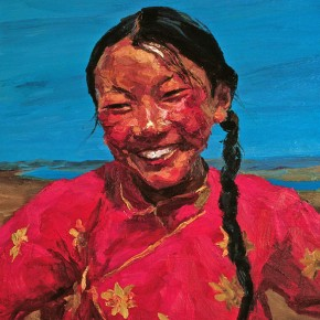 """054 Xie Dongming, """"Smile of Da He Yuan"""", 2003; oil on canvas, 100×80cm"""