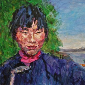 """059 Xie Dongming, """"Ferry"""", 2009; acrylic on paper, 72×115cm"""