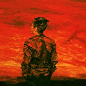 """066 Xie Dongming, """"A Red Sky"""", 2005; oil on canvas, 180×250cm"""