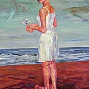 """077 Xie Dongming, """"Jinjin""""; oil on canvas, 200x190cm"""