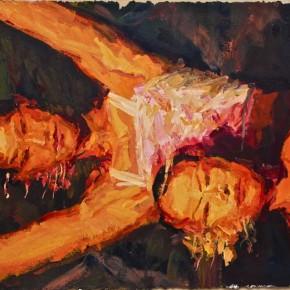 "081 Xie Dongming, ""Spot Light"", 2008; acrylic on paper, 115×72cm"