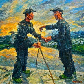 "086 Xie Dongming, ""Old Pal"", 2009; oil on canvas, 200×190cm"
