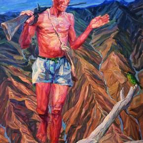 "089 Xie Dongming, ""Hunter""; 190x130cm"