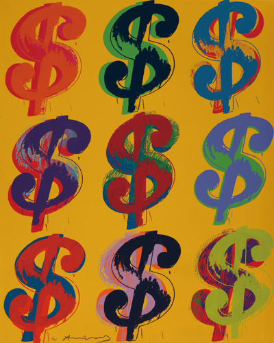 $ (9), 1982; Screen print on Lenox Museum Board Collection of The Andy Warhol Museum, Pittsburgh © 2012 The Andy Warhol Foundation for the Visual Arts, Inc./  Artists Rights Society (ARS), New York